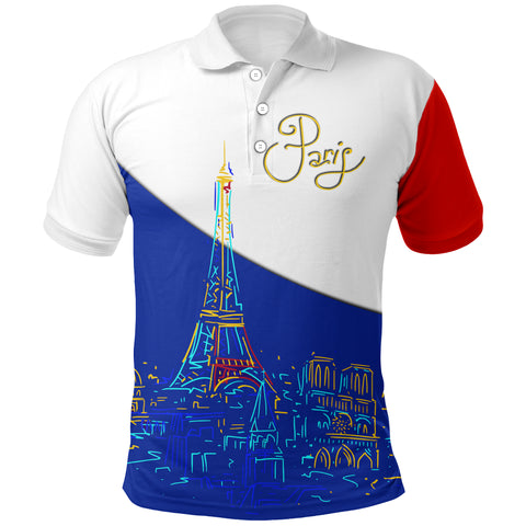 France Polo Shirt - Paris Eiffel Flag