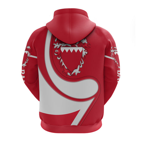 Image of Bahrain Zip Hoodie - Flag Coloury Fashion TH5