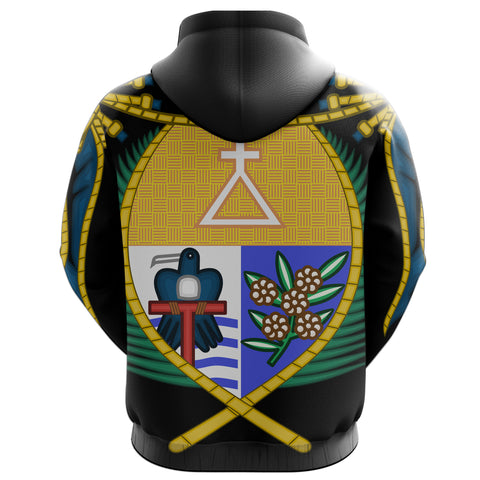 Image of Nauru Zipper Hoodie Coat Of Arms Zip-Up Hoodie TH5