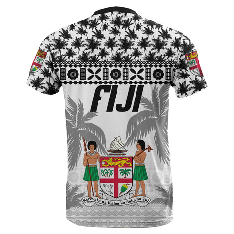 Fiji T-Shirt, Fijian Tapa Coconut Tree All Over Print TH5