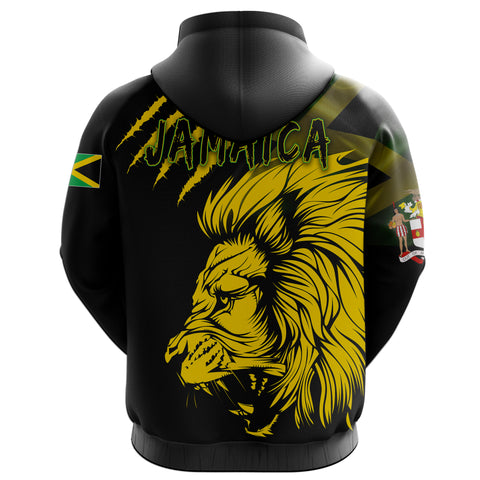 Image of Jamaica Hoodie Lion Coat Of Arms All Over Hoodie TH5