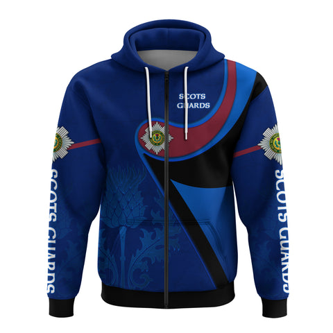 Scotland Zip Hoodie - Scots Guards - Thistle TH5