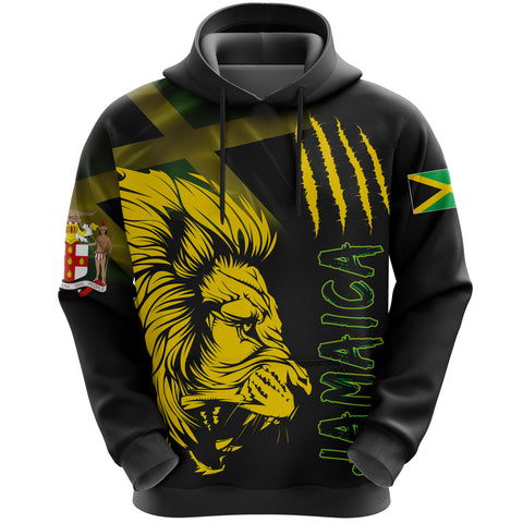 Jamaica Hoodie Lion Coat Of Arms All Over Hoodie