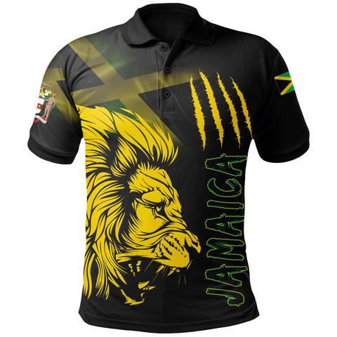 Jamaica Polo Shirt Lion Coat Of Arms