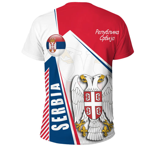 1stTheWorld T-Shirt Serbia In My Heart A30