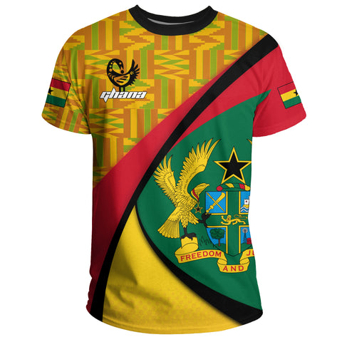 Image of 1stTheWorld Ghana T-shirt, Ghana Coat Of Arms Pattern A10