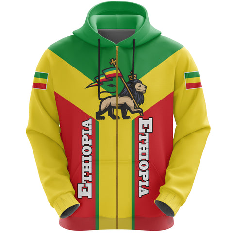Ethiopia Pullover Hoodie Rising (Zip) A10
