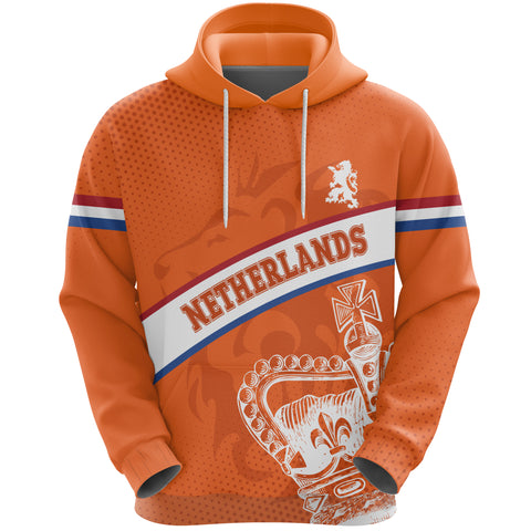 Netherlands Hoodie - Netherlands King's Day Lion Crown A10