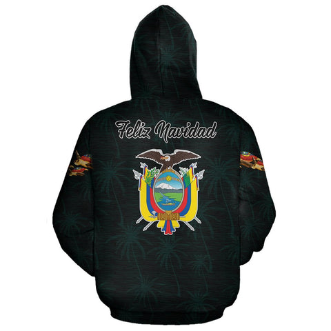 Image of Ecuador Hoodie Zip Turtle Christmas (Blue) | High Quality | Love The World