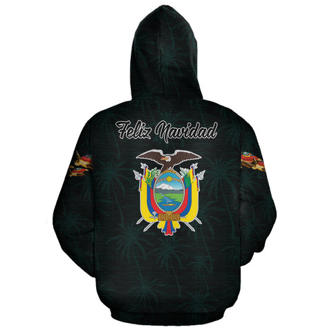 Ecuador Hoodie Pullover Turtle Christmas (Blue) | High Quality | Love The World