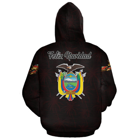 Ecuador Hoodie Zip Turtle Christmas (Red) | High Quality | Love The World