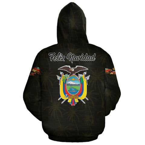 Image of Ecuador Hoodie Zip Turtle Christmas (Yellow) | High Quality | Love The World
