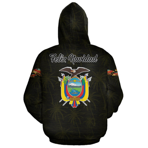 Ecuador Hoodie Pullover Turtle Christmas (Yellow) | High Quality | Love The World