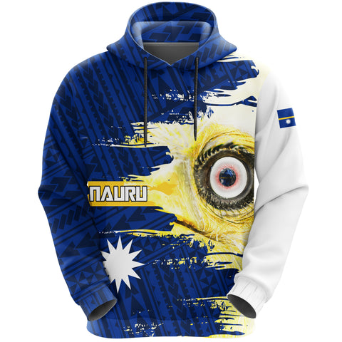 Nauru Hoodie Pullover Polynesian - White Eyes Bird | High Quality | Love The World