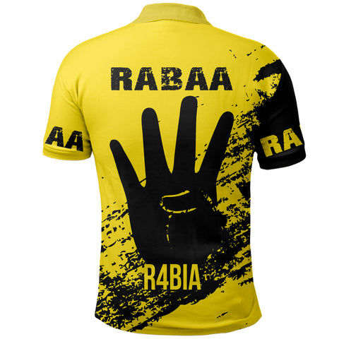 Tunisia Rabaa Polo Shirt - Rabbi'ah Sign | Love The World
