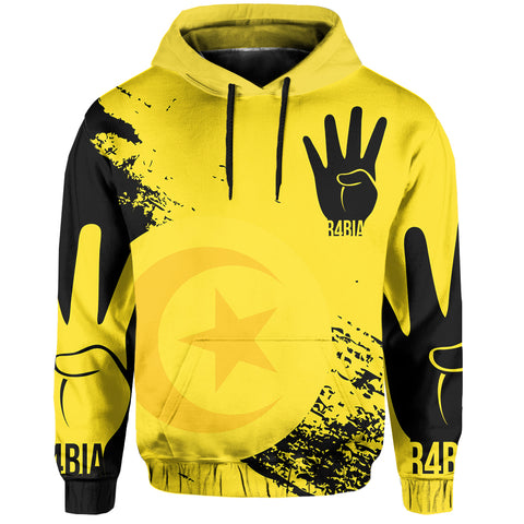 Tunisia Rabaa Hoodie Pullover - Rabbi'ah Sign | Love The World