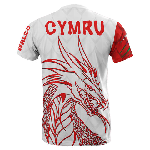 Wales T-Shirt Cymru Head Dragon Shirts TH5