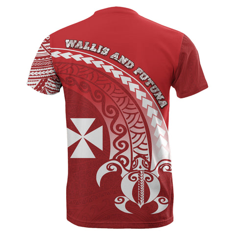 Wallis and Futuna T-Shirt Turtle - Wave Polynesian Style TH5