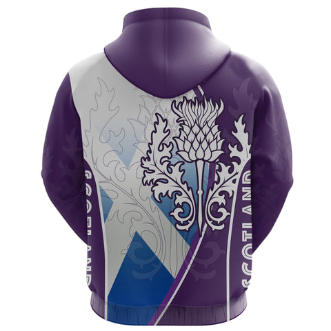 Image of Scotland Hoodie Thistle Mix Flag (Zip) Th5