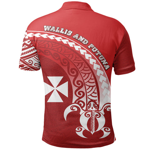 Wallis and Futuna Polo Shirt Turtle - Wave Polynesian Style TH5
