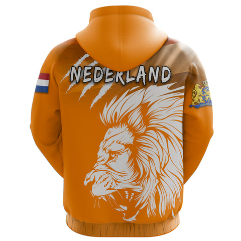 Netherlands Hoodie Lion, Nederland All Over Hoodie Flag TH5
