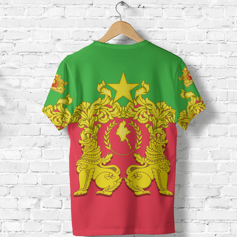 Myanmar T-Shirt Burmese Chinthe - Burmese Flower TH5
