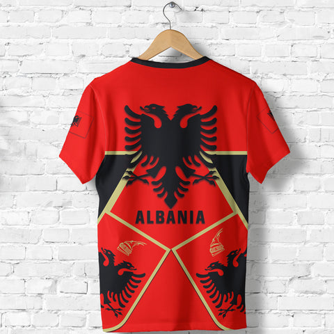Albania T-Shirt Albania Black Eagle Shirt TH5