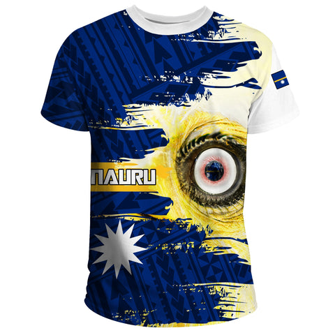 Image of Nauru T-shirt Polynesian - White Eyes Bird | High Quality | Love The World
