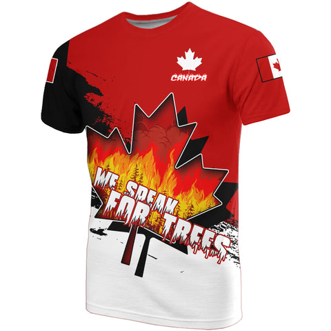 Canada T-shirt - We Speak For Trees | High Quality | Love The World