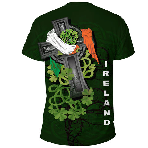 Irish T-shirt Shamrock Celtic Cross | High Quality | Love The World
