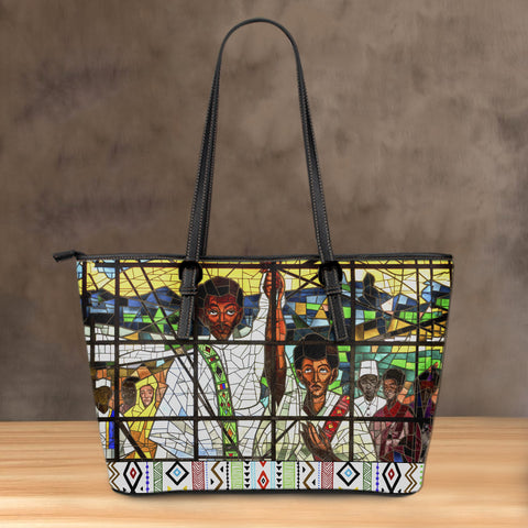 Ethiopia Leather Tote, Ethiopian Orthodox A10