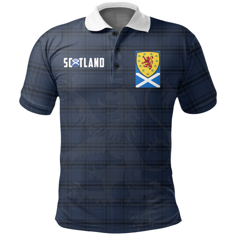Scotland Polo Shirt - Scotland Tartan Army Style