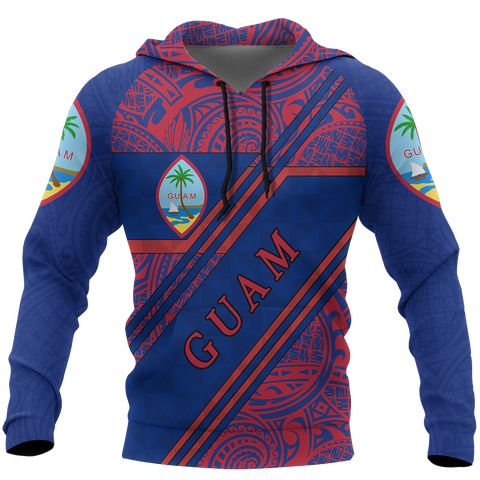 Image of Guam Polynesian Hoodie Th5 Line Style Th5