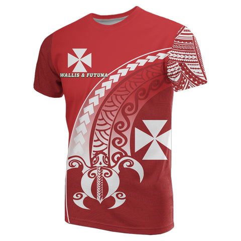 Wallis and Futuna T-Shirt Turtle - Wave Polynesian Style