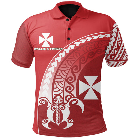 Wallis and Futuna Polo Shirt Turtle - Wave Polynesian Style