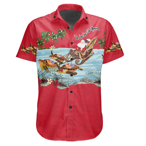 Tahiti Shirt Short Sleeve Christmas Red | High Quality | Love The World