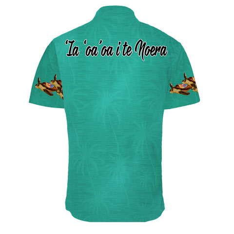 Tahiti Shirt Short Sleeve Christmas Turquoise | High Quality | Love The World