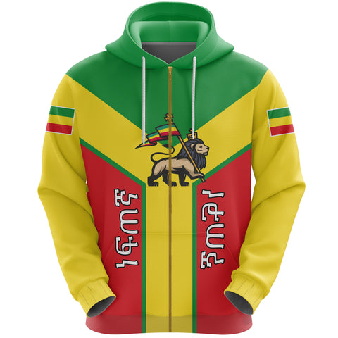 Ethiopia Pullover Hoodie Rising (Zip) 2A10