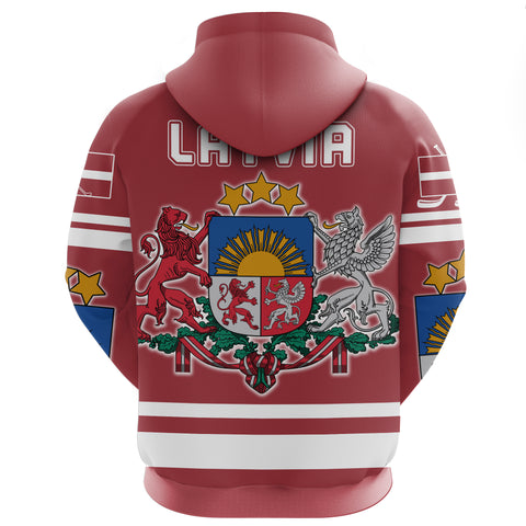 Latvia Hockey Zip Hoodie | Clothing | Love The World