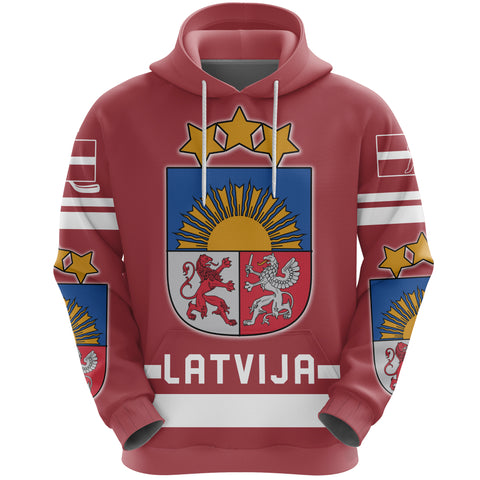 Latvia Hockey Hoodie | Clothing | Love The World