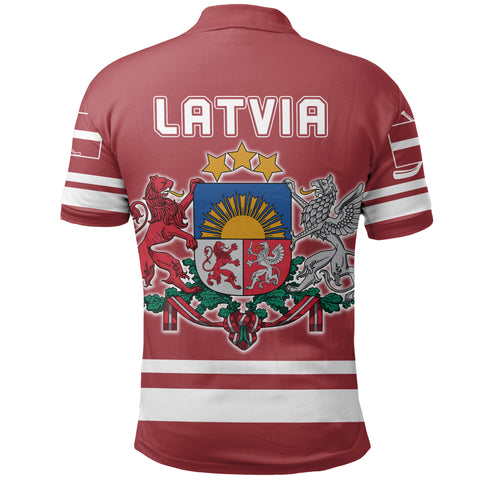 Latvia Hockey Polo Shirt | Clothing | Love The World