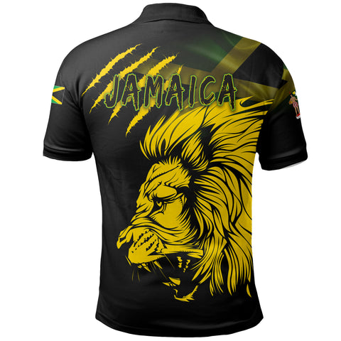 Jamaica Polo Shirt Lion Coat Of Arms TH5
