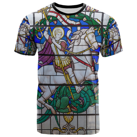 Image of 1sttheworld T-Shirt - Duel of St. Georeg with the Devil in Joriskerk - BN17