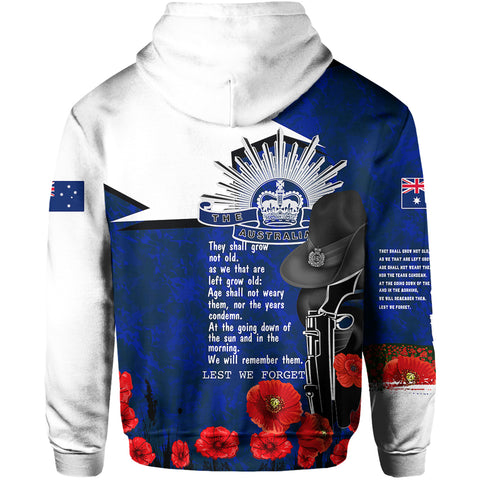 1stTheWorld Australia Hoodie Anzac Lest We Forget A7