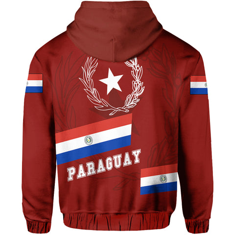 Image of Paraguay Hoodie - Aslant Version Back