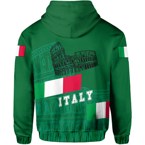 Italy Zipper Hoodie - Aslant Version