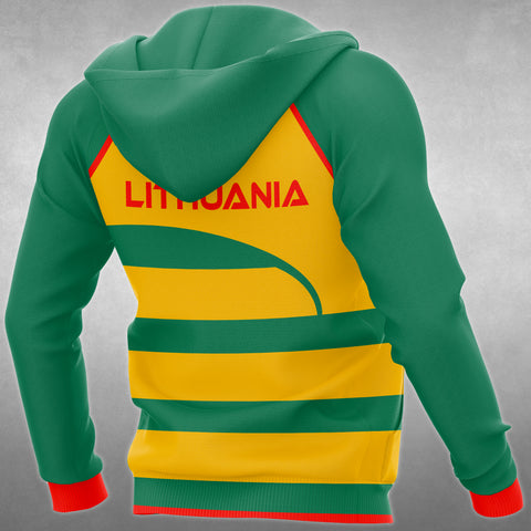 Lithuania Flag Curve All Over Hoodie - BN01