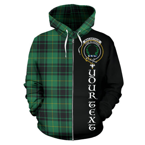 (Custom your text) MacArthur Ancient Tartan Hoodie Half Of Me | 1sttheworld.com