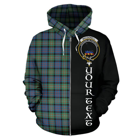 Image of (Custom your text) MacDonnell of Glengarry Ancient Tartan Hoodie Half Of Me | 1sttheworld.com