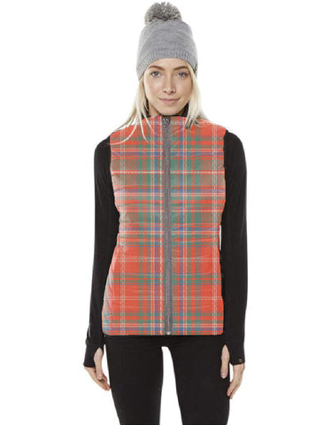 Image of MacDougall Ancient Tartan Puffer Vest for Men and Women K5